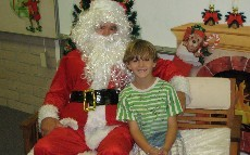 Santa Visits at the PTA December activity